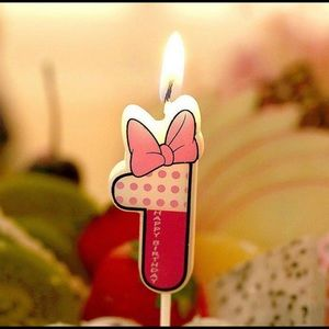 New Minnie Mouse First Birthday Candle